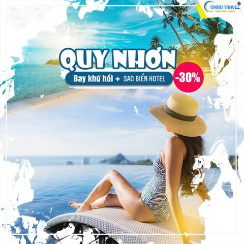Combo du lịch Quy Nhơn 4 Ngày  từ Hà Nội 2021: VMB + Sao Biển Hotel