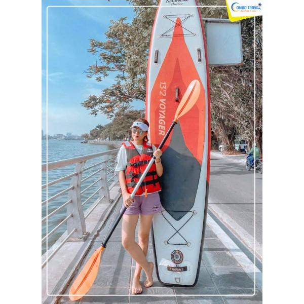 Trải nghiệm chèo thuyền SUP Hồ Tây giải nhiệt mùa hè