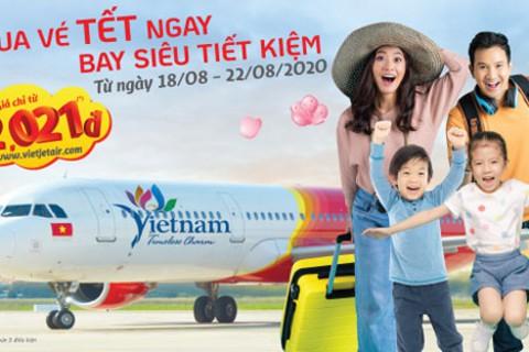 Đặt vé máy bay chỉ từ 2.021 đồng của VietjetAir dịp Tết Tân Sửu 2021